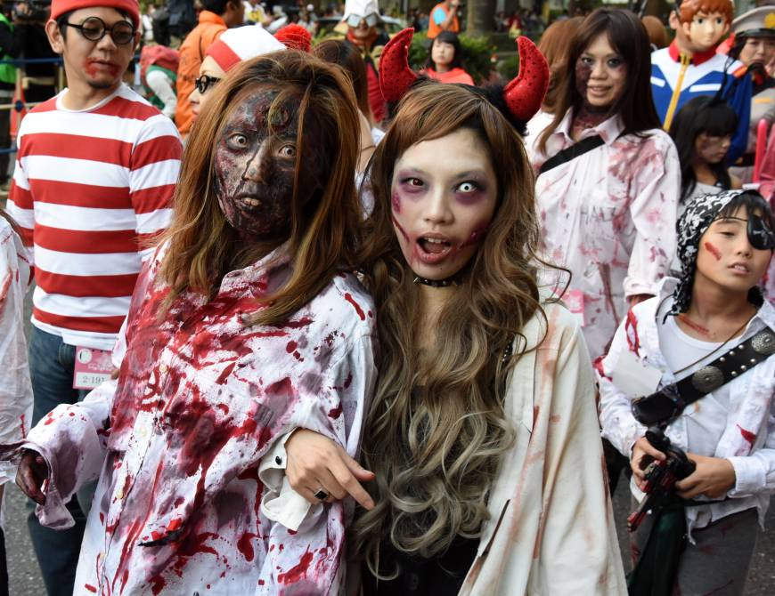 The streets of Kawasaki come alive with armies of the walking dead.
