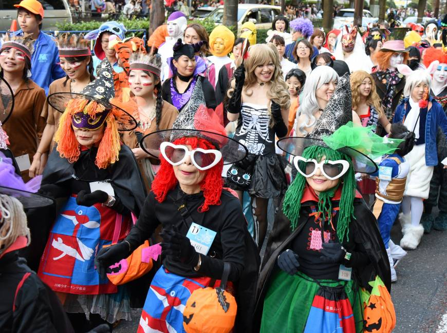 No age limits to the cosplay ritual of Halloween.