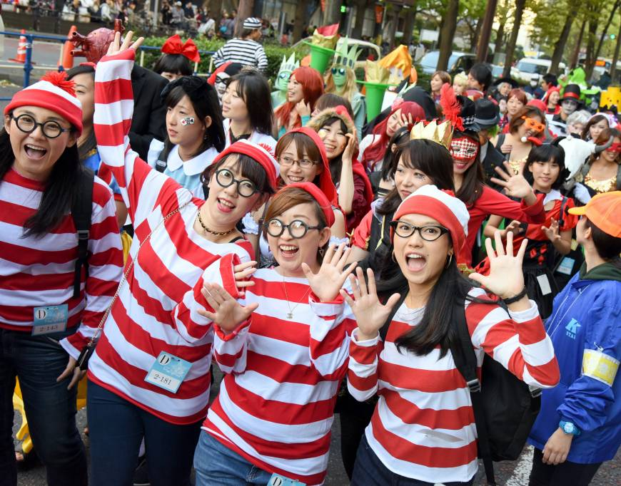 Waldo is located at the Kawasaki Halloween Parade, now in its 19th year.