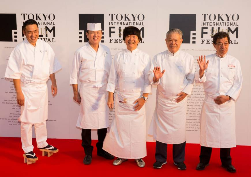 The five top chefs participating in TIFF