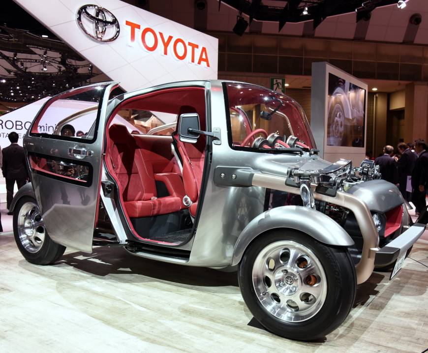 The three-seater Kikai from Toyota is all about transparency.
