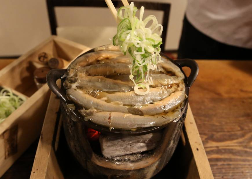 Loach stew is served at Komakata Dozeu, a restaurant with two centuries of history, in Tokyo's Taito Ward.